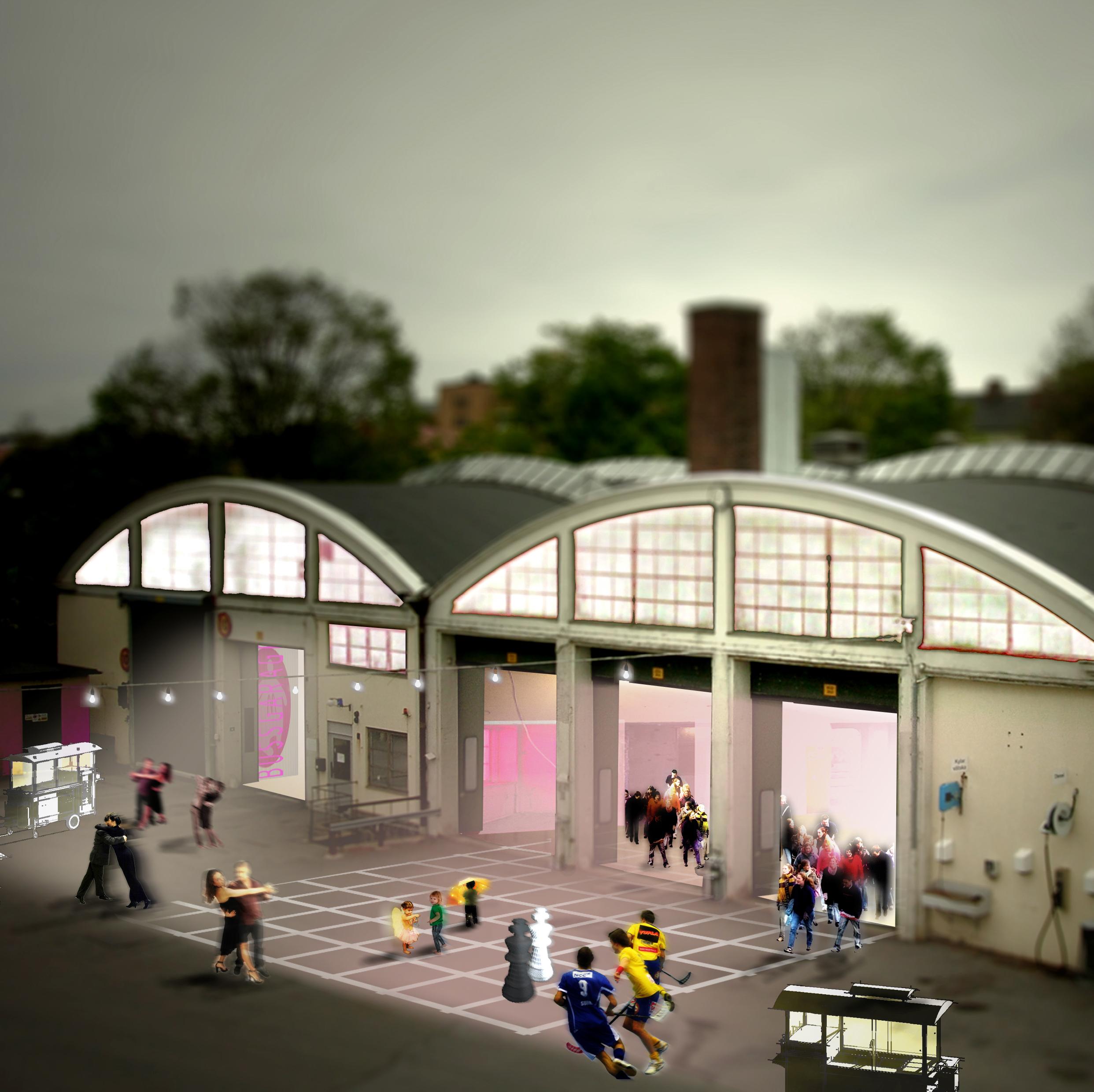 Bussgaraget, Malmö. Fastighetsutveckling och idéutveckling